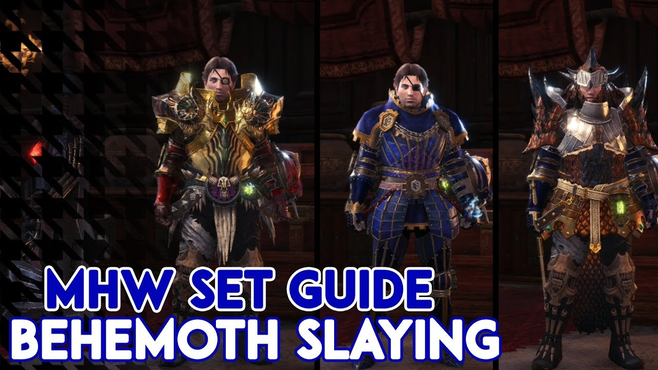 Mhw Best Sets For Behemoth Hunting Youtube