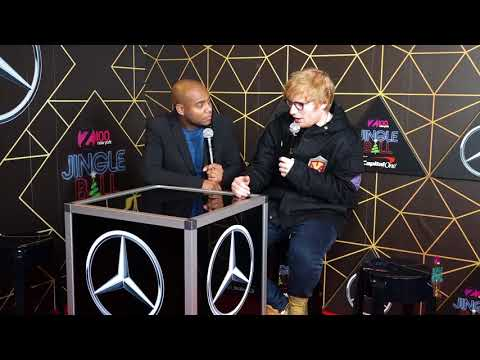 Ed Sheeran Talks About His Amazing 2017 Backstage at Z100 Jingle Ball