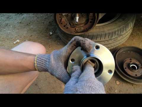 Убираем гул в автомобиле. Замена задней ступицы с подшипником на Fiat Punto.