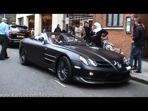 Matte Black Mercedes Slr Mclaren 722s Roadster Youtube