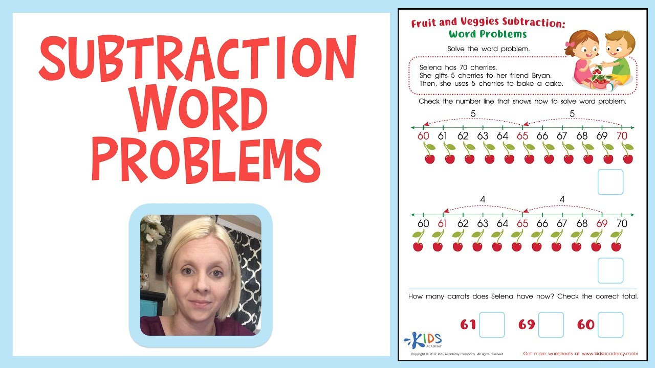medium resolution of Subtraction Word Problems for Kids - Grade 2   Kids Academy - YouTube