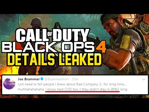 """""""I KNOW WHAT THE NEXT CALL OF DUTY IS"""" - Treyarch's Next Game Details Leaked! (Black Ops 4)"""