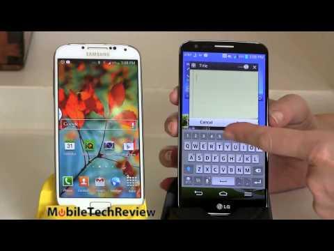 LG G2 vs Samsung Galaxy S4 Smartphones Comparison