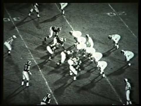 August 1961 Rookie Game vs. LA Rams #74 Defensive Tackle