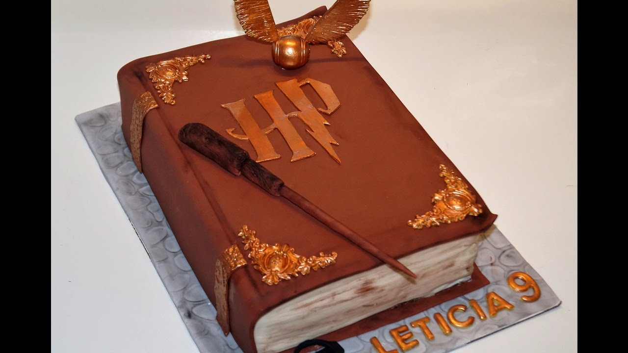 Cake Decorating Tutorials How To Make A 3d Harry Potter Book Of