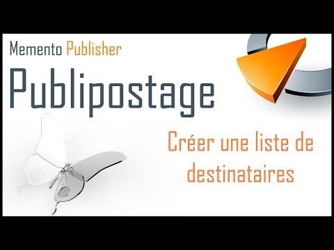 Créer une liste de destinataires avec Publisher - Formation Publisher Marseille