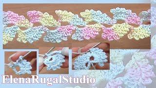 Crochet Cord Lace Free Pattern Урок 6 Вязание шнура