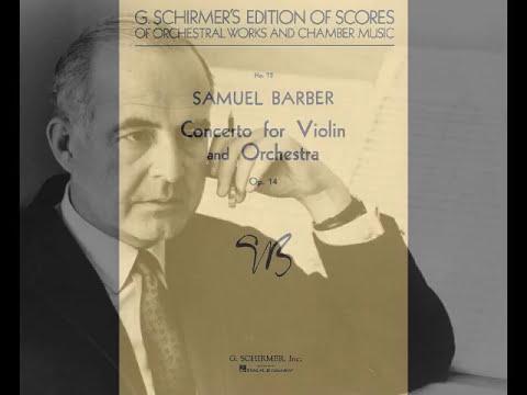 Samuel Barber Concierto para violín 1mv op 14 - piano accompaniment