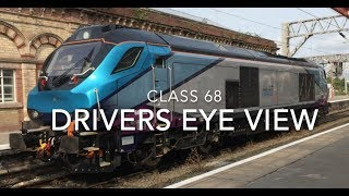 CLASS 68   Captioned   Crewe to Wavertree Junction