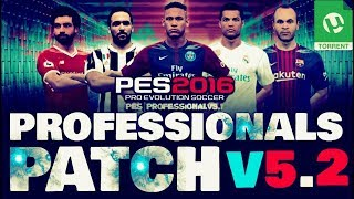 PES 2016 EUROPA 100% 11/04 PROFESSIONALS PATCH 5.2 UPDATE