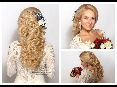Греческая коса, свадебная прическа от Ларисы Реча.