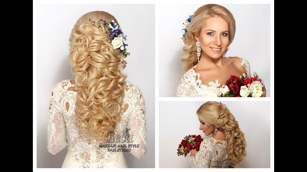 Свадебная прическа на тонкие волосы средней длины - 7714e