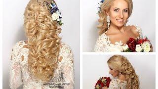 видео Свадебная прическа греческая коса