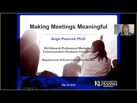 May 19 Making Meetings Meaningful