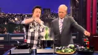Jamie Oliver owns David Letterman