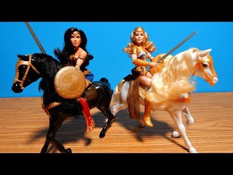 Wonder Woman Movie Dolls w /Horses Hippolyta Fashion Film Toy Unboxing & Review