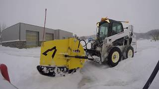 January winter storm Jackson MN.. Bobcat S570 w/ Snowwolf Quattro plow