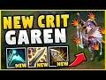 HOW OP ARE THE *NEW* ITEMS ON GAREN?! FULL CRIT GAREN IS BACK! (BROKEN BUILD!) - League of Legends