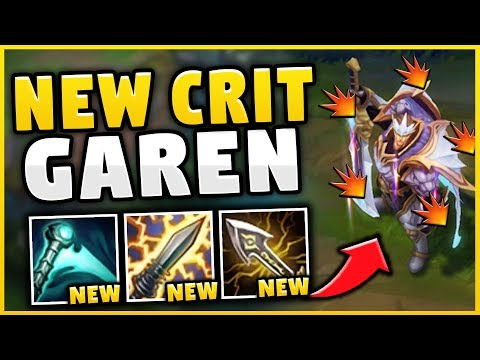 HOW OP ARE THE *NEW* ITEMS ON GAREN?! FULL CRIT GAREN IS BACK! (BROKEN BUILD!) - League of Legends