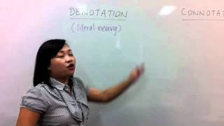 C2C Lesson - Meaning of Denotation Vs. Connotation