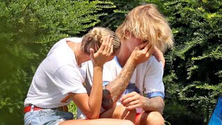 Justin Bieber Is Visibly Distressed as Hailey Baldwin Comforts Him