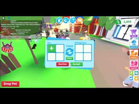 TRADING A GOLDEN UNICORN IN ADOPT ME! Pt.1 Roblox Adopt Me ...