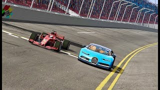Ferrari F1 2018 vs Bugatti Chiron  Oval Track