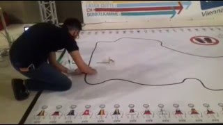 robotchallenge 2016 2nd place robot blue line follower utch mexico