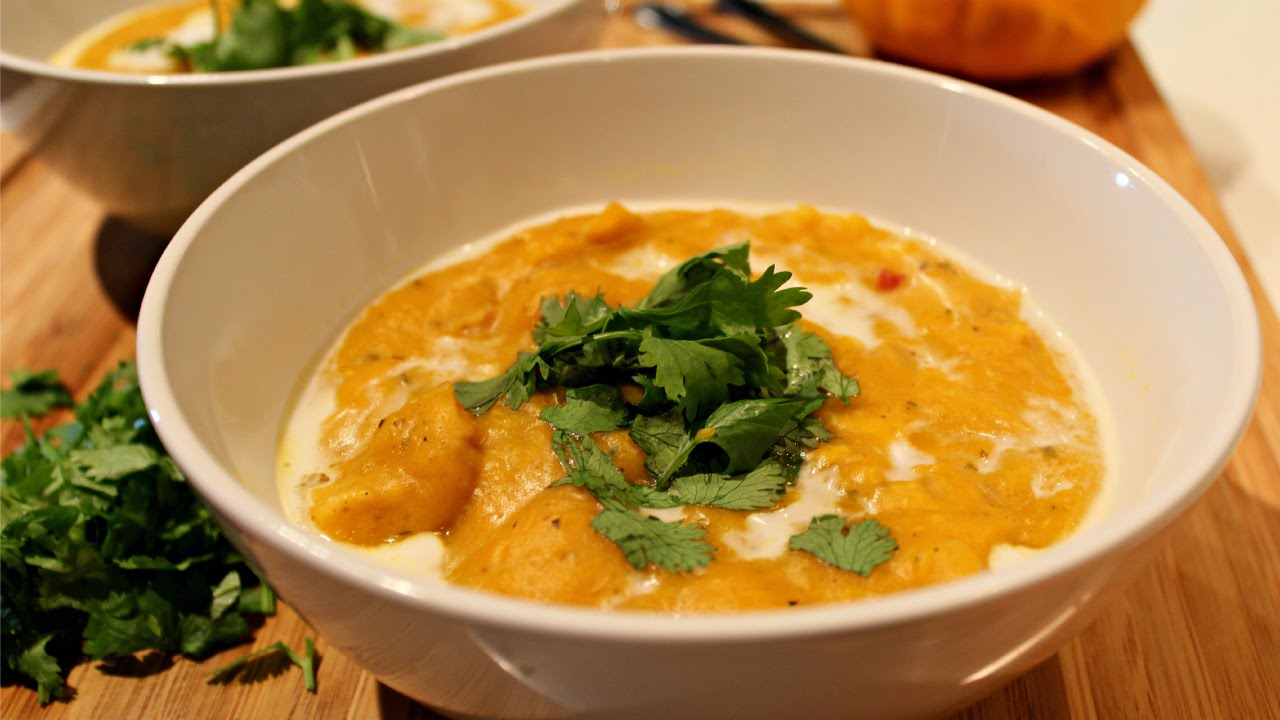 Butternut Squash Soup With Coconut Milk Recipe Youtube