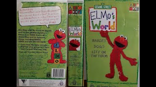 Elmo's World Babies Dogs & Life On The Farm Vol 2 Australian VHS