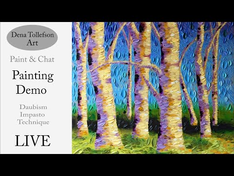 Come Visit My Studio! LIVE Acrylic Painting Demonstration & Paint Mixing with Artist Dena Tollefson