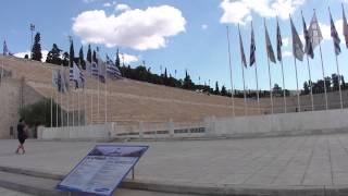 Chegando ao Estádio Panatenaico - Atenas - Magu pelo Mundo