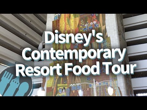 Disney World Food Tour: EVERYTHING To Eat At Disney's Contemporary Resort