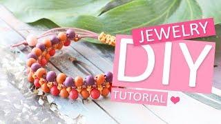 DIY TUTORIAL: Macramé armbandje met houten kralen – Zelf sieraden maken