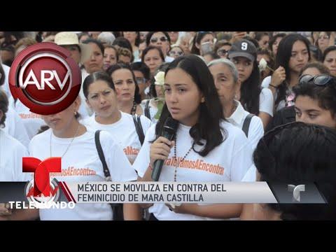 Marcha por feminicidio de Mara Castilla clama justicia   Al Rojo Vivo   Telemundo