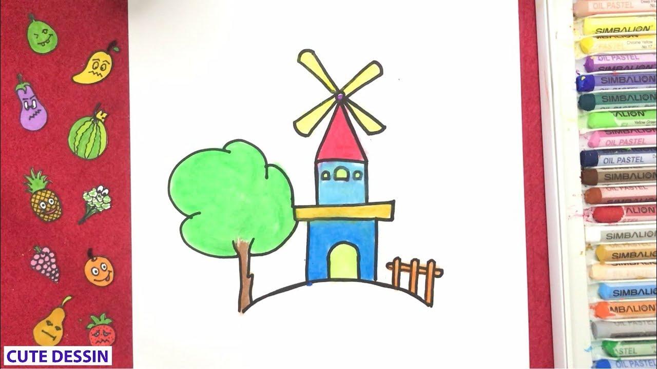 Comment Dessiner Et Colorier Une Maison Mignon Facilement Etape Par Etape 1 Dessin Maison Bizimtube Creative Diy Ideas Crafts And Smart Tips