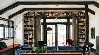 Bookshelves Throughout Define the Fascinating Library House in Portland