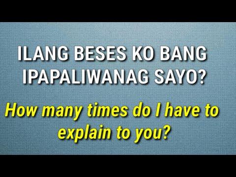 Tagalog Expressions When ANGRY! (English-Tagalog Translation)