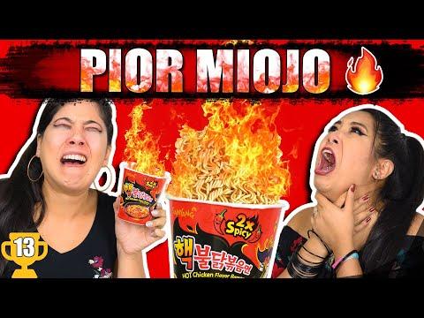 TENTAMOS COMER O MIOJO MAIS ARDIDO DO MUNDO!!! #ESPECIAL1M | Blog das irmãs