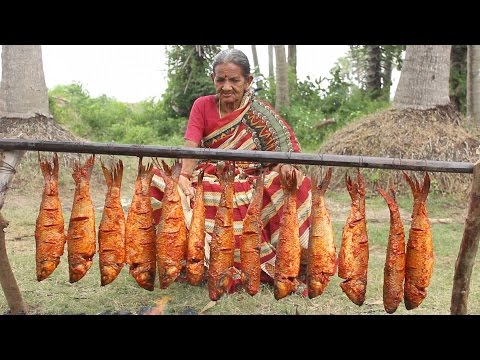 Fish Fry in Village Style My Grandma || Fish Recipe || Myna Street Food || Food Info