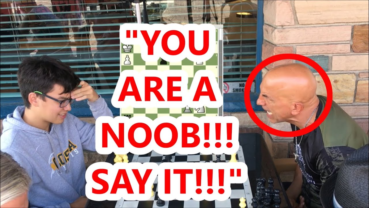 17 Year Old Gets Called a Noob By Trash Talker! Novice Noah vs Boston Mike