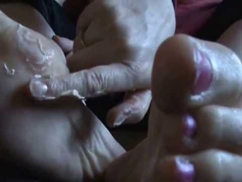 Mature wife handjob with cum