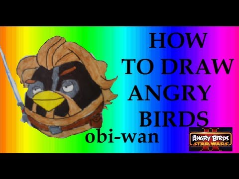Angry Birds Star Wars 2 - How To Draw Obi-Wan - YouTube
