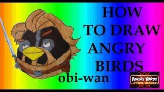 Angry Birds Star Wars 2 - How To Draw Obi-Wan
