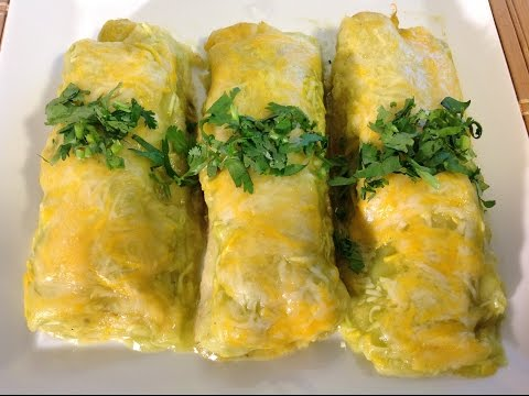 Green Chile Chicken Enchilads Recipe-Sauce-How To Cook-Mexican Food Recipes
