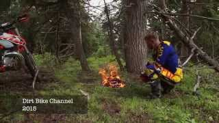 Wilderness Survival - Dirt Bike Style - Starting a Fire without a match or lighter