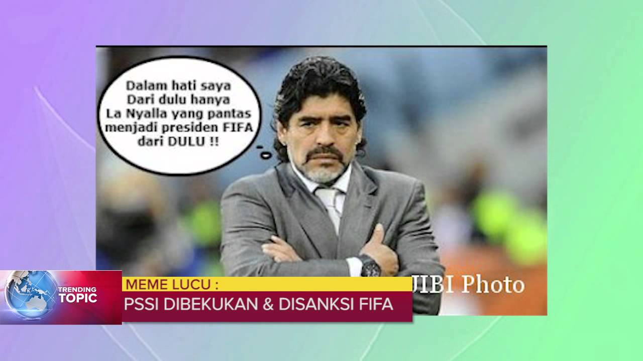 Meme Lucu Bikin Ngakak PSSI Dibekukan Dan DiSanksi FIFA YouTube
