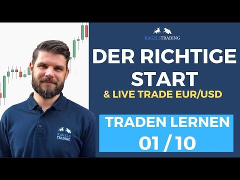 Traden lernen 1/10 ⇨ So fängst du mit dem Trading an! + Live Trade auf den EUR/USD