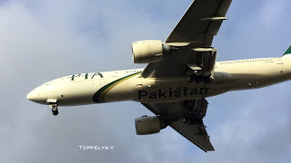Aircraft on finals at London Heathrow airport runway 27L
