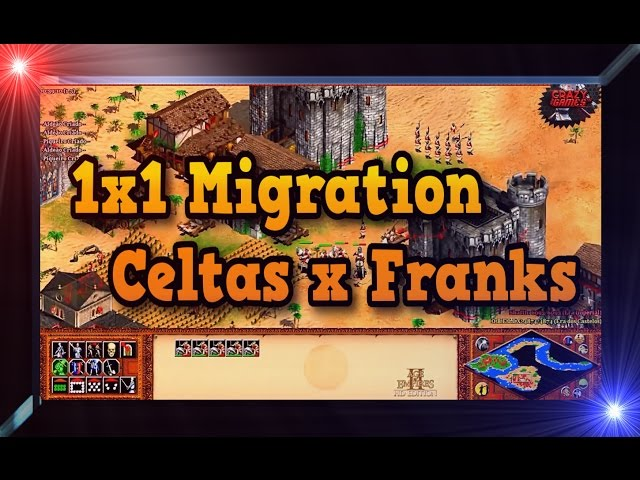 Age of Empires 2 HD 1x1 Migration Celts X Franks AoE2HD Gameplay PT BR